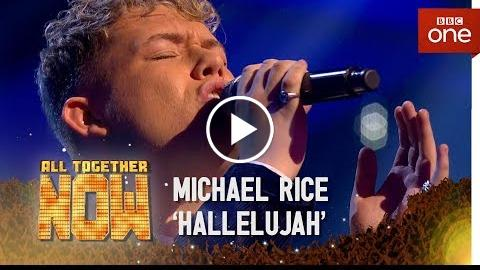Winner Michael Rice sings 'Hallelujah' in the Sing Off – All Together Now: The Final