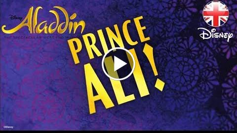 ALADDIN THE MUSICAL  Prince Ali Sing-A-Long (Official Lyric Video)  Official Disney UK