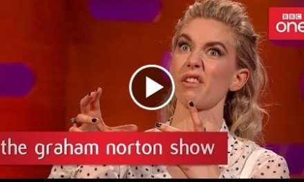 Vanessa Kirby recognised as Princess Margaret swigging her journey juice!  – The Graham Norton Show