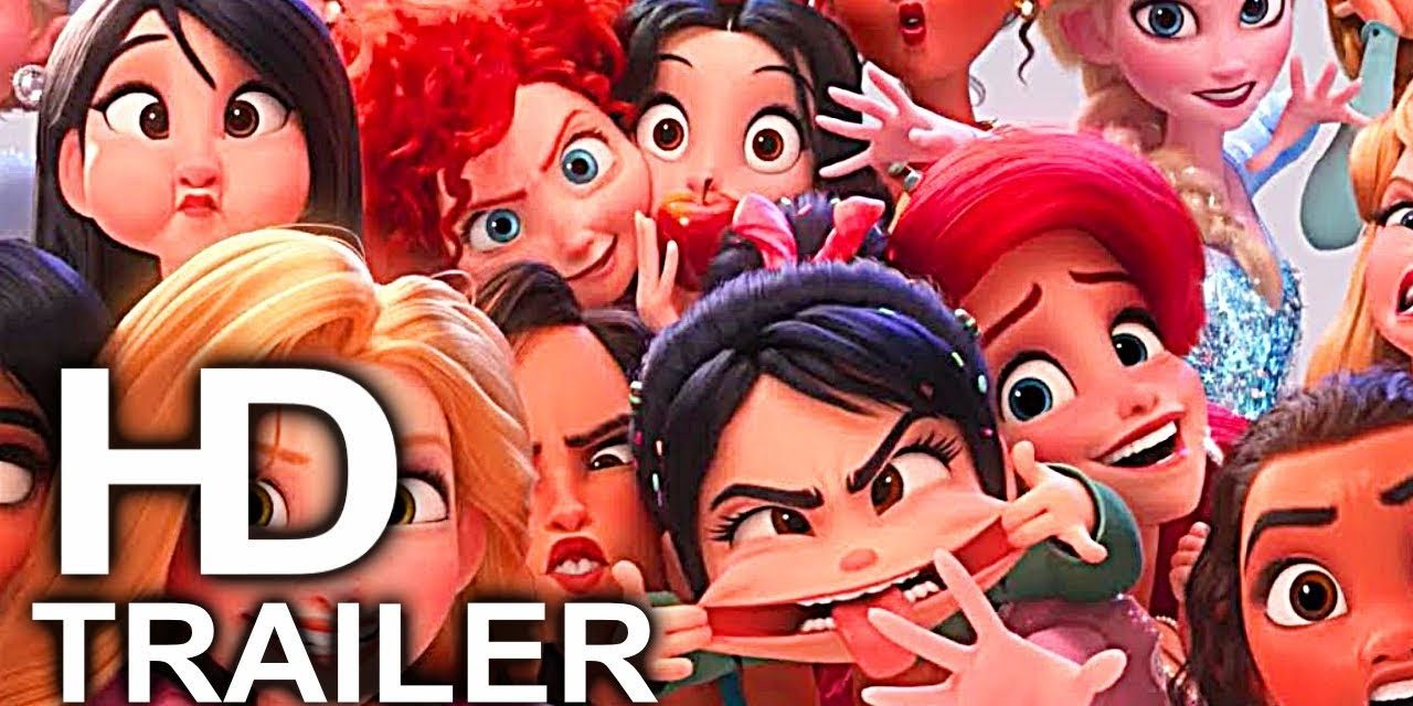 WRECK IT RALPH 2 Frozen, Merida, Disney Princesses & Moana Funny Scenes Best Scenes Trailer (2018)