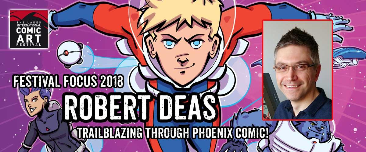 "Lakes Festival Focus: Comic Artist and Writer Robert Deas, creator of ""Trailblazers"""