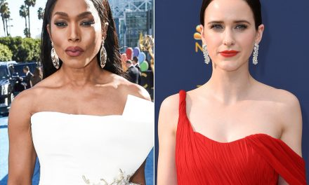 Oops! Angela Bassett Mispronounces Rachel Brosnahan's Name While Presenting at Emmys 2018