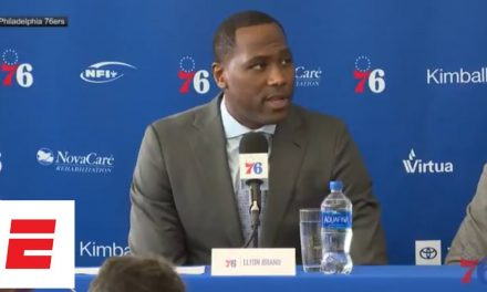 Elton Brand introductory press conference as 76ers GM: Goal is 'to bring a championship' | ESPN