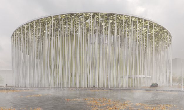 Steven Chiltern Architects to envelop Wuxi Show Theatre in white columns and golden canopy