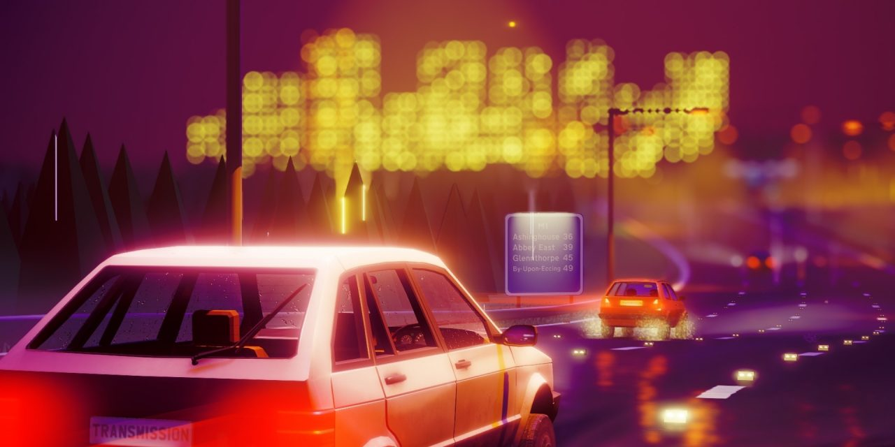 Transmission is a rain-slicked open-world courier cruise through a neon-streaked 1980s