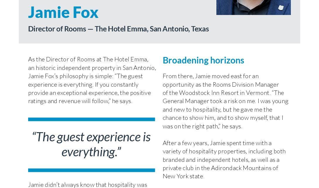 Revinate Heroes: Jamie Fox, Director Of Rooms, Hotel Emma