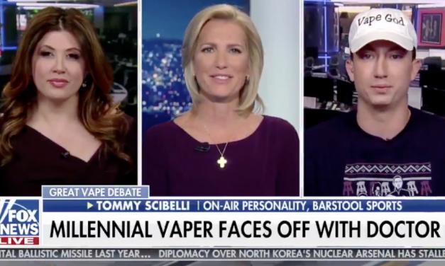 Fox News' Laura Ingraham Hosts Hacking 'Vape God': 'I'll Blow Whatever'