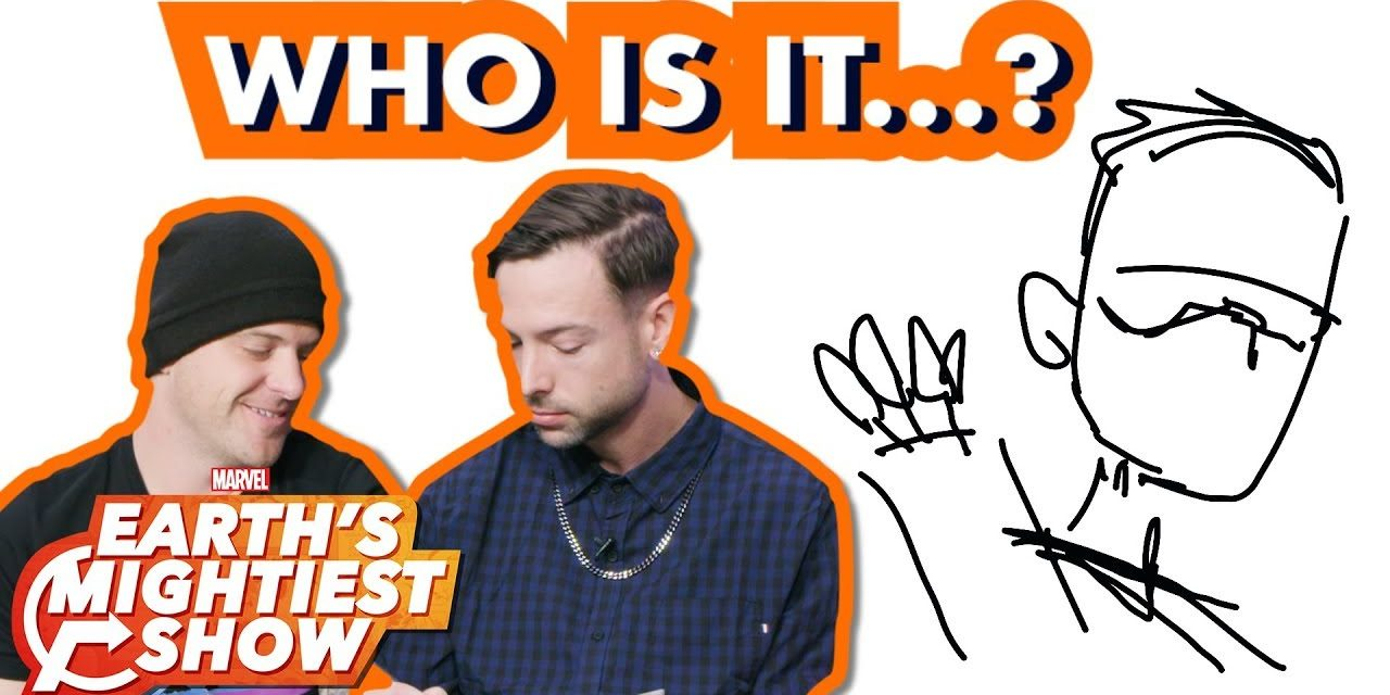 Good Charlotte Competes in a Marvel Sketch Challenge!   Earth's Mightiest Show Bonus