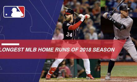 Longest MLB HRs of the 2018 season