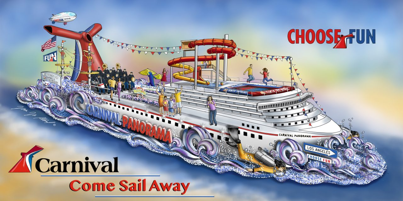 Carnival Cruise Line To Kick Off Year-Long Celebration Of Arrival Of New California-Based Carnival Panorama With Float In The 2019 Rose Parade On January 1