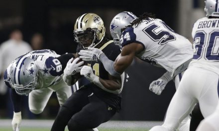 NFL refs missed an easy helmet hit on Alvin Kamara. They need to do better