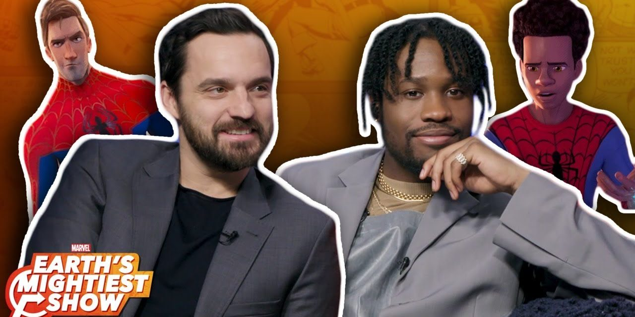 The stars of Spider-Man: Into the Spider-Verse swing by Marvel HQ! | Earth's Mightiest Show