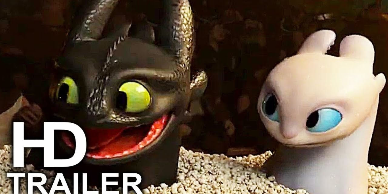 HOW TO TRAIN YOUR DRAGON 3 Toothless & Light Fury Date Scene + Trailer  (2019) Animated Movie HD