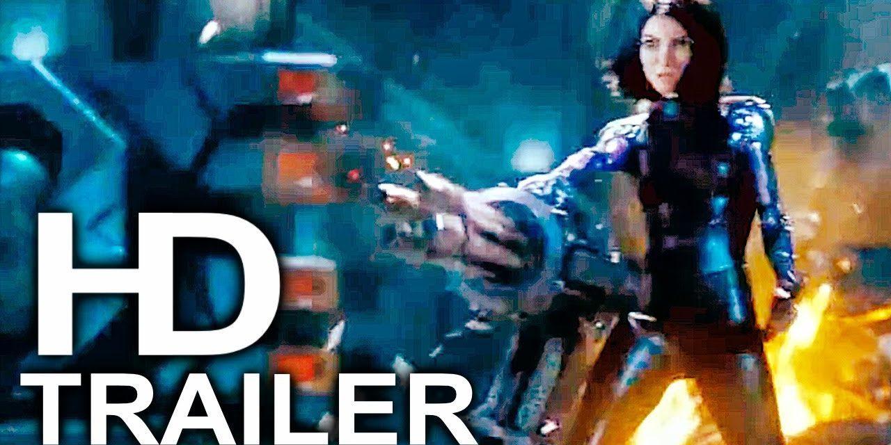 ALITA BATTLE ANGEL Gladiator Fight Scene Trailer NEW (2019) James Cameron Sci-Fi Movie HD