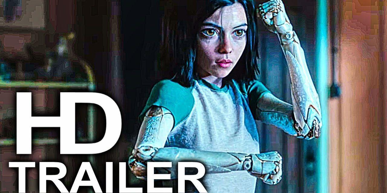 ALITA BATTLE ANGEL Mirror Punch Scene Clip + Trailer NEW (2019) James Cameron Sci-Fi Movie HD