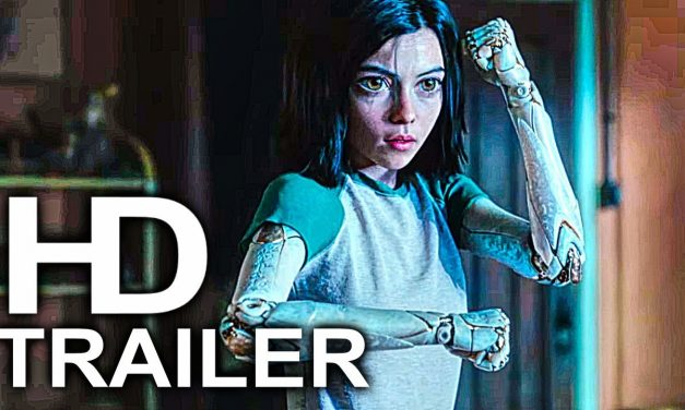 ALITA BATTLE ANGEL Mirror Punch Scene Clip + Trailer NEW (2019) James Cameron Sci-Fi Movie HD