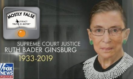 PolitiFact Rates Fox News Claim That Ginsburg Died As 'Mostly False'
