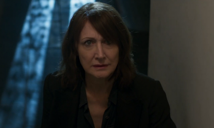 """Trailer Watch: Patricia Clarkson Investigates a Murder, Time, & Space in """"Out of Blue"""""""