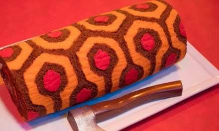 Celebrate Overlook Hotel-Style with THE SHINING Redrum Roll-Cake from The Homicidal Homemaker