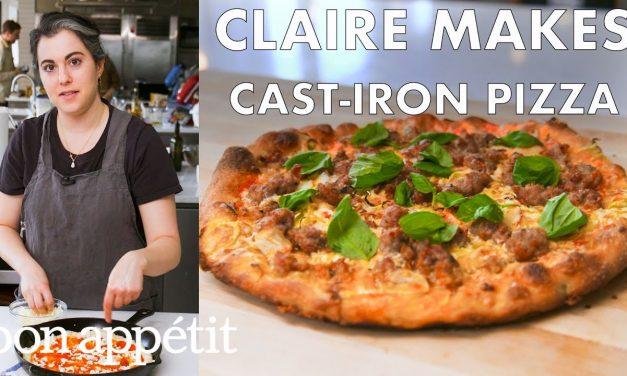 Claire Makes Cast-Iron Skillet Pizza | From the Test Kitchen | Bon Appétit