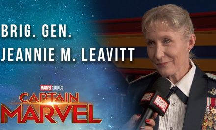 Brigadier General Jeannie Leavitt on the Captain Marvel Red Carpet
