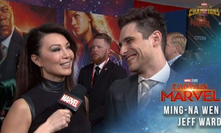 Agents of S.H.I.E.L.D. Ming-Na Wen and Jeff Ward at the Captain Marvel Premiere