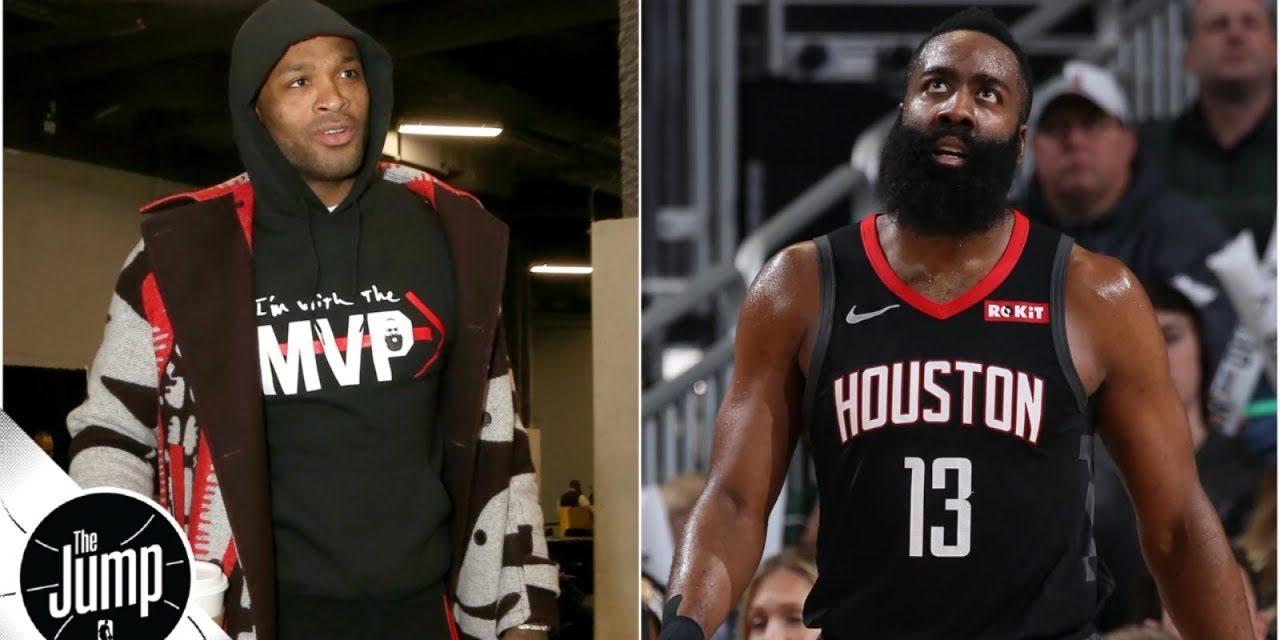 James Harden's MVP campaigning during Bucks vs. Rockets surprises Brian Windhorst | The Jump
