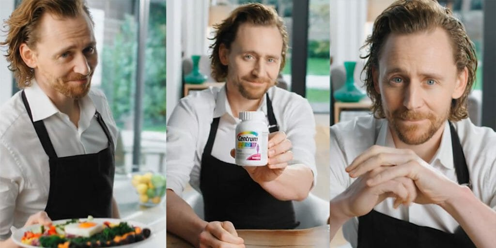 What's going on with this oddly sexual Tom Hiddleston vitamin ad?
