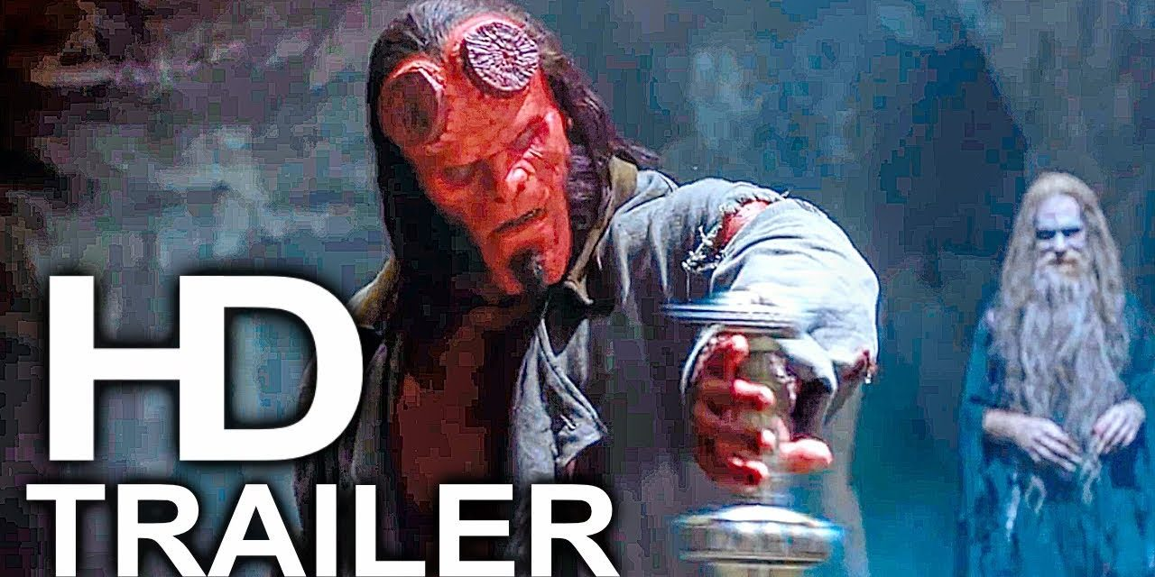 HELLBOY Pulls Excalibur From The Stone Trailer NEW (2019) Superhero Movie HD