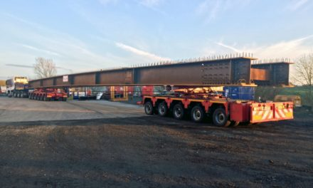 Collett transports giant girders to Vinci M20 job