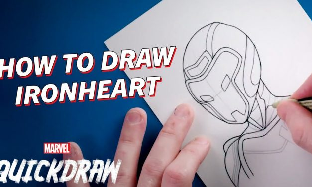 Learn how to draw Ironheart!   Marvel Quickdraw How-To