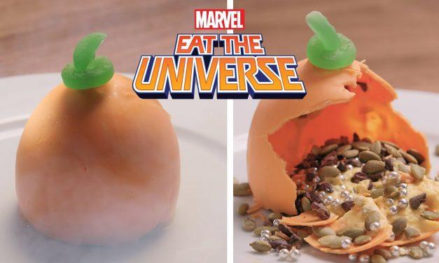 Green Goblin's Pumpkin Bombes | Eat the Universe