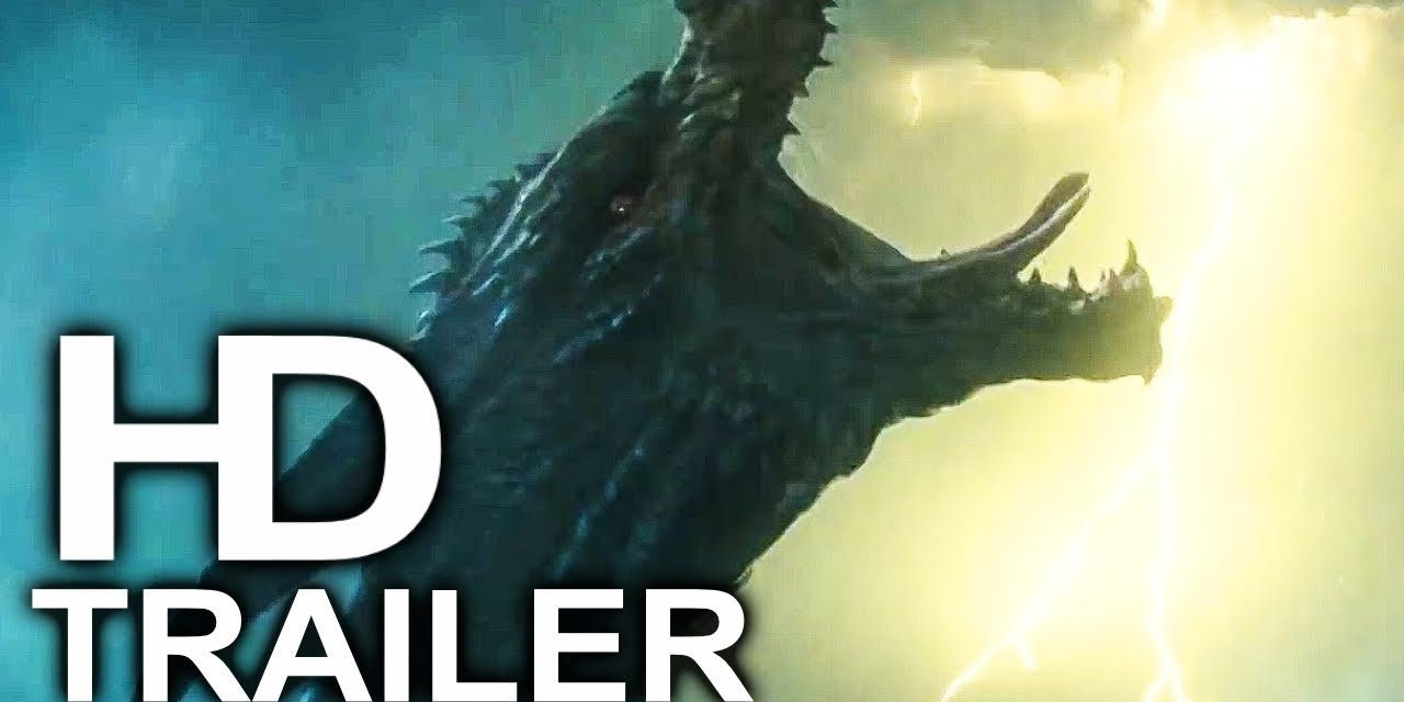 GODZILLA 2 King Ghidorah Attack Scene Clip + Trailer NEW (2019) King Of The Monsters Action Movie HD