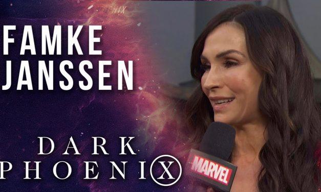 Famke Janssen chooses between Wolverine and Cyclops at the X-Men: Dark Phoenix Premiere