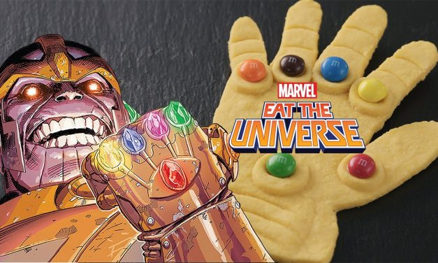 Making an Infinity Gauntlet with Hazelnut Spread M&M's!
