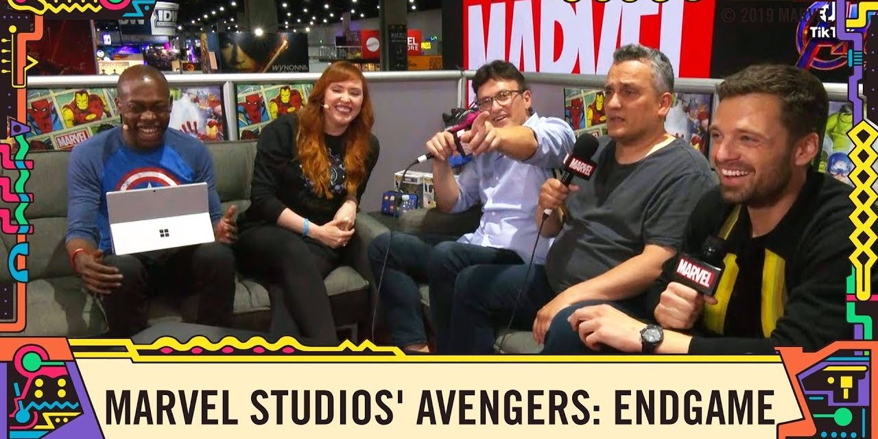 Sebastian Stan and the Russo Brothers talk Marvel Studios' Avengers: Endgame at SDCC 2019!