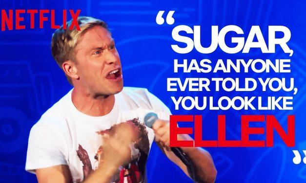 Woman Tells Russell Howard He Looks Like Ellen DeGeneres   Russell Howard: Recalibrate
