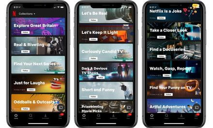 Netflix starts testing Collections section: Curation by humans, not algorithms