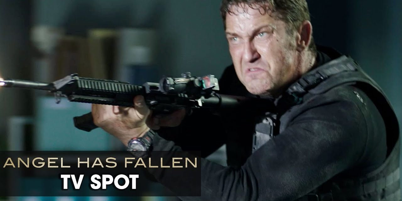 "Angel Has Fallen (2019 Movie) Official TV Spot ""BLOCKBUSTER"" — Gerard Butler, Morgan Freeman"