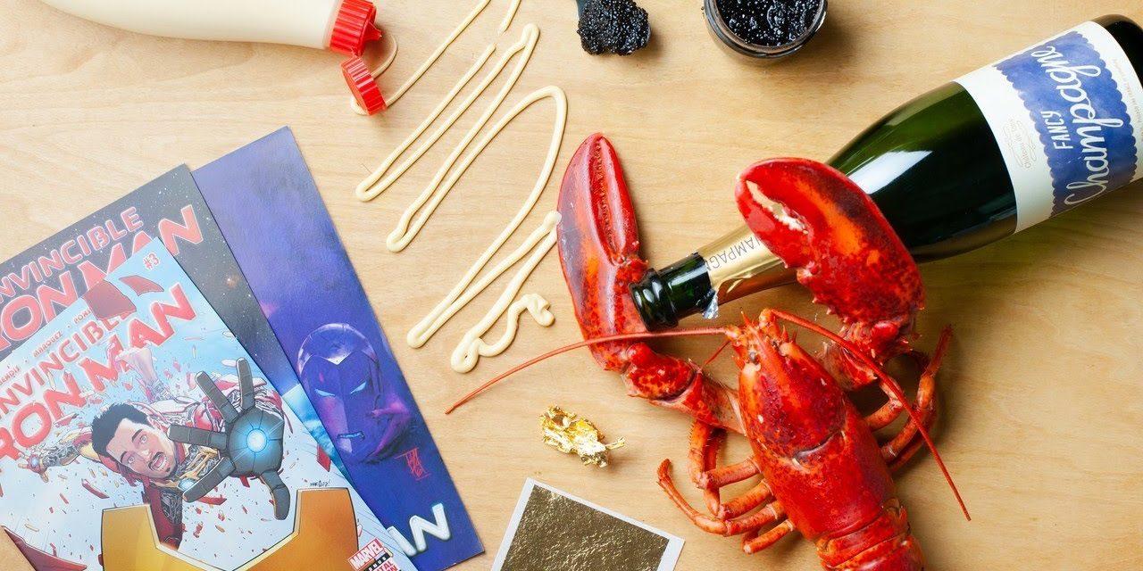 Making Tony Stark's GOLD Lobster Corn Dog! (featuring Chris Gethard)