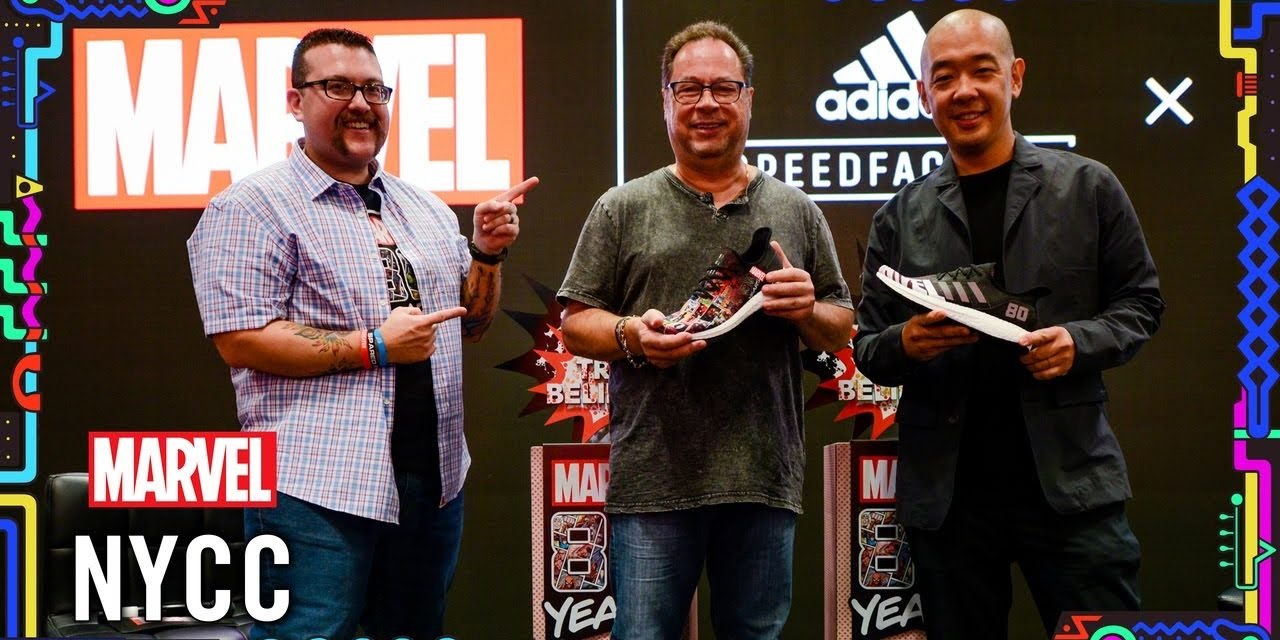 Get a Closer Look at the New Adidas / Foot Locker Sneaker Collab | Marvel LIVE! @ NYCC 2019