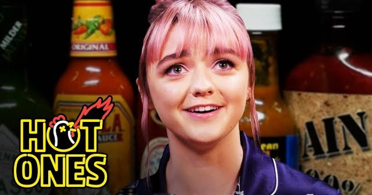 Maisie Williams eats spicy wings and reveals she almost missed her 'Game of Thrones' audition