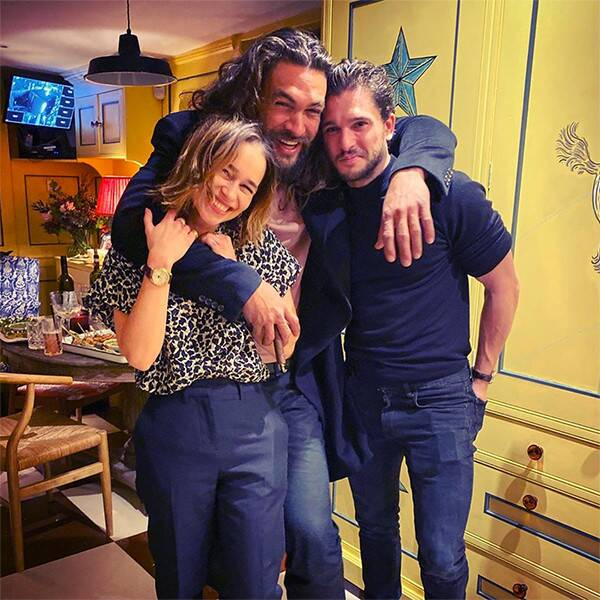 Emilia Clarke Reunites With Her 2 Game of Thrones Loves