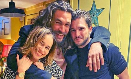'Game of Thrones' stars Emilia Clarke, Jason Momoa and Kit Harington reunite