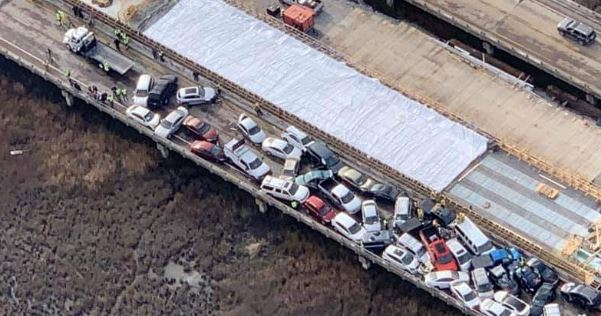 Updated: More than 50 injured after major crash involving 69 vehicles on I-64 near Williamsburg, Va. [video, aerial shots]