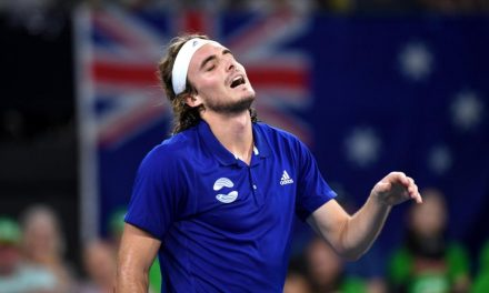Tennis star Stefanos Tsitsipas receives talking to from mum after petulant on-court outburst