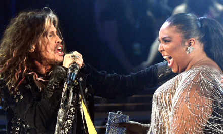 Aerosmith frontman Steven Tyler yelled 'Lizzo I f—ing love you!' in the middle of his Grammys performance, but the moment was bleeped on air