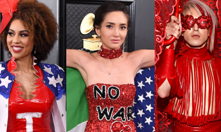 Some celebrities used their Grammys outfits to make political statements about everything from Iran to Trump