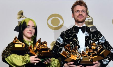 Billie Eilish & Brother Finneas Pose with Their Collective 10 Grammys After the Awards Show!