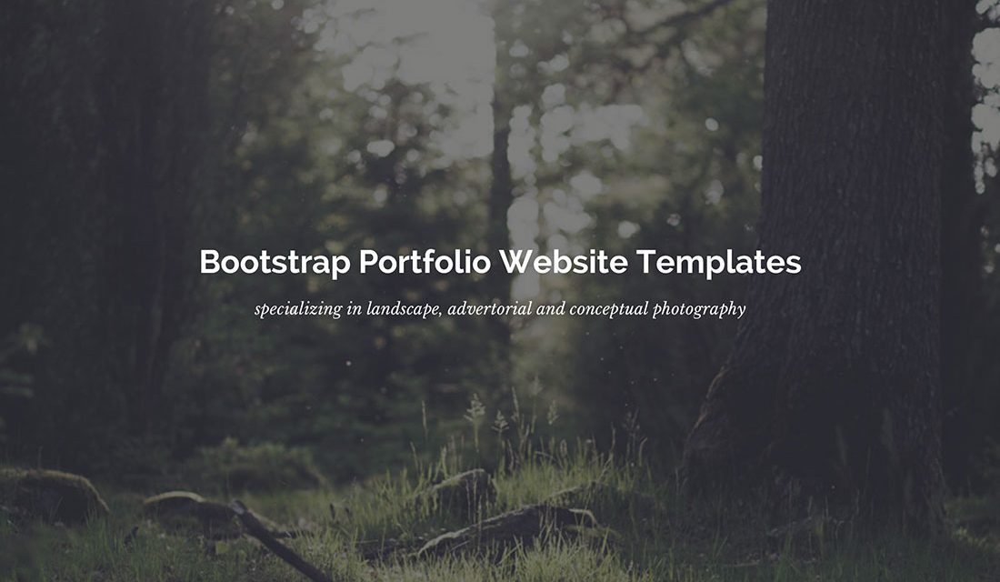 28 Best Bootstrap Portfolio Templates To Showcase Your Work [HTML & WordPress] 2020